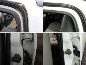 Nettoyage des entrées de portes et des joints